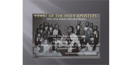 Holy Cross Indian Orthodox Mission celebrates Feast of the Holy Apostles